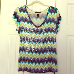 NWOT sequin front top by INC